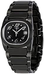 Tissot Women's T009.110.11.057.01 T Moments Black PVD Stainless Steel Watch