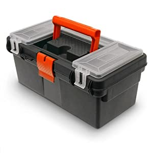 Tool Box Tool Case Plastic Empty with Storage for Small ...