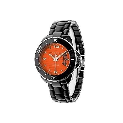 Android Men's AD418AKRG Exotic Divemaster Ceramic Quartz Orange Watch