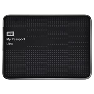 WD My Passport Ultra 1TB Portable External USB 3.0 Hard Drive with Auto Backup - Black