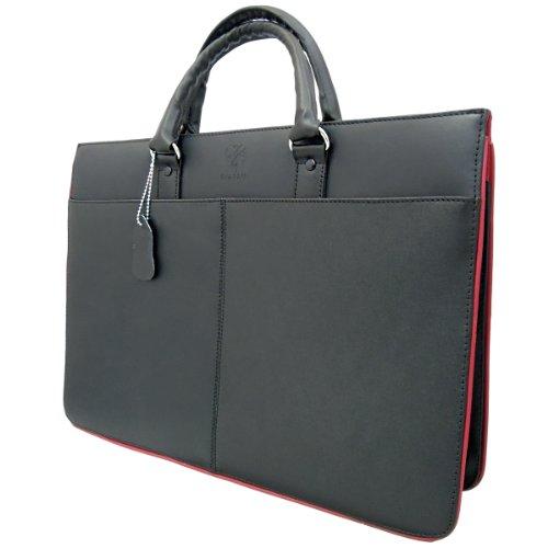 DIABLO KA-453 RD メンズ/牛革 カジュアル/ビジネスバッグ/BAG/鞄/かばん 3rd ブラック/黒×レッド/赤