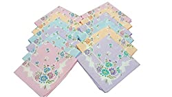 Girls Premium Handkerchiefs -12 Pcs -32 CM X 32 CM