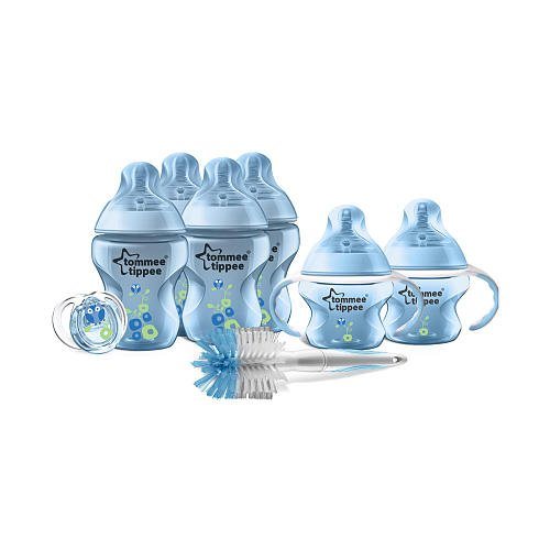 Tommee Tippee Closer to Nature Newborn Decorated Starter Set - Blue - 1