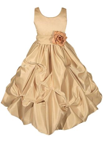 AMJ Dresses Inc Heavenly Gold Flower Girl Wedding