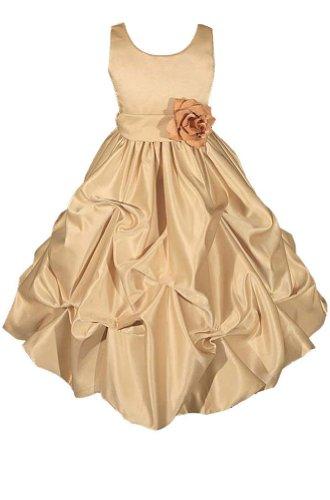 AMJ Dresses Inc Heavenly Gold Flower Girl Wedding