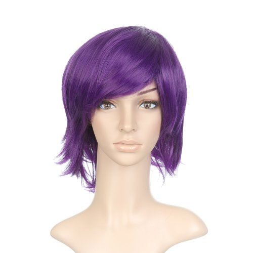 Purple Anime Costume Cosplay Short Cut Wig