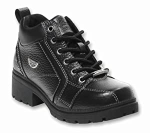Milwaukee Motorcycle Clothing Company Womens Deceiver Boots (Black, Size 9.5)