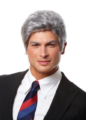 Deluxe Grey Mr. President Wig