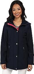 Nautica Women's Hooded Mesh Trim Softshell Jacket