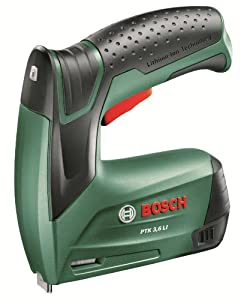 Bosch PTK 3.6 LI Cordless Lithium-Ion Tacker with 3.6 V Battery, 1.3 Ah