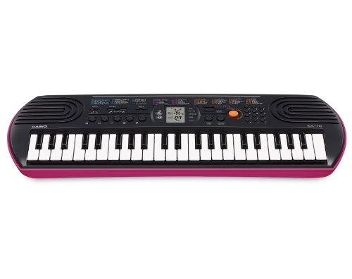 Casio-SA-78H5-SA-78-Teclado-electrnico-plstico-2-altavoces-integrados-negro-y-rosa