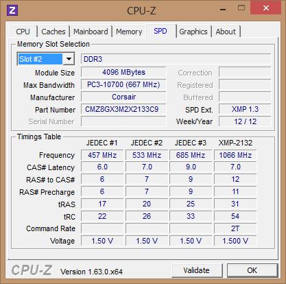 Corsair Vengeance Red 8GB 2x4GB