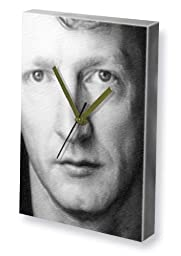 STEFFAN RHODRI - Canvas Clock (A4 - Signed by the Artist) #js001