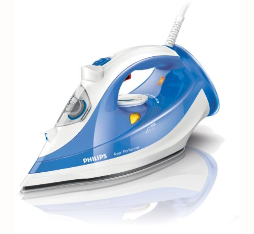 Philips GC3810/20 Azur Performer Steam Iron with 150 g Steam Boost, 300 ml, 2400 Watt, Blue