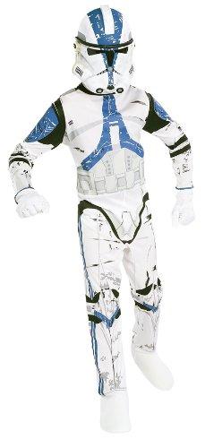 Rubies 41021L - Star Wars - Costume per bambini Clone trooper con casco, Taglia: L