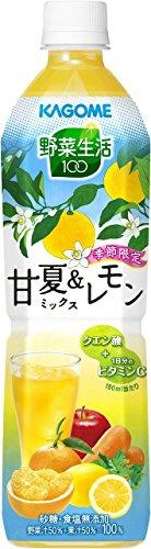 カゴメ 野菜生活100 甘夏&レモンミックス スマートPET 720ml×15本