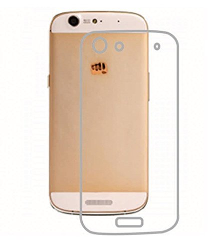 Dashmesh Shopping Ultra Thin 0.3mm Clear Transparent Flexible Soft TPU Slim Back cover Compatible for Micromax Canvas Gold A300