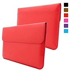 "Snuggâ""¢ Surface Pro 1 & 2 Case - Leather Sleeve with lifetime guarantee (Red) for Microsoft Surface 1 & 2, RT & Pro"