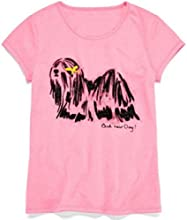 Pink Short Sleeve Big Girls Bad hair Day Dog Tee