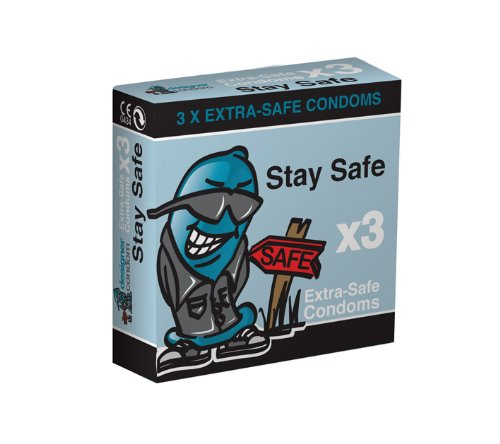 Stay Safe Condom Pack of 3 x 3 (Total 9 Condoms)