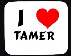 Amazon.com : I Love Tamer custom mouse pad (first name/surname