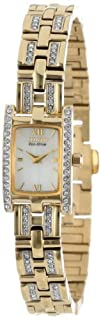 Citizen Womens EG2352-52P Eco-Drive Silhouette Crystal Watch