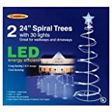 "Celebrations Lighting-s E44G4912 ""Led Spiral"" Tree Driveway Markers 2' - White"