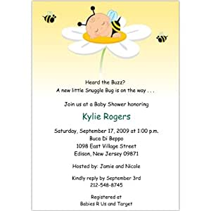 adorabug neutral baby shower invitations set of 20