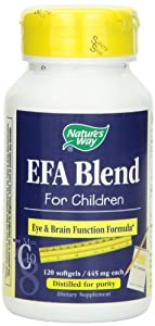 Nature's Way EFA Blend for Children, 120 Softgels