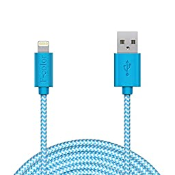 iPhone 6 Charger, 10Ft Long Apple Cable iPhone 6S Charger F-color MFi Braided Lightning Cable Phone Charger Cord for iPhone 6S 6 Plus 5S 5C 5, iPhone SE, iPad mini 4, iPad Pro, iPod Touch 5 Blue