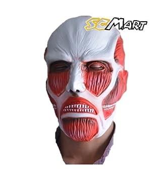 SCMart☆新発売☆超リアル!!大人気 進撃の巨人 超大型巨人タイプ マスク お面 コスプレ AttackonTitan