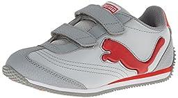 PUMA Speeder Illuminescent V Sneaker , Gray Violet/Limestone Gray/Grenadine, 4 M US Toddler