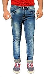 Evanzo Men's Skinny Jeans (QZ3CAC95E68_Blue_34W x 32L)