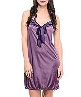 Klamotten Women's Babydoll Dress (YY57_Free Size_Purple)