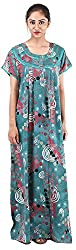 Milan Collection Women's Printed Dressing Gowns & Kimonos (MC-204_40, Blue, Size - 40)