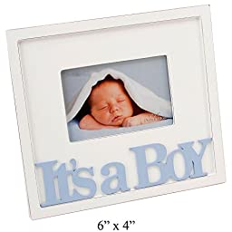 It\'s a Boy Blue Text Wooden Photo Frame Gift By Haysom Interiors
