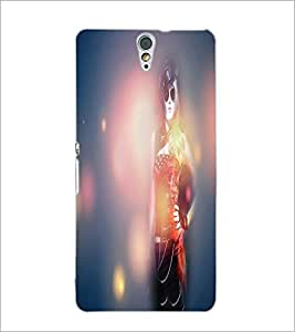 PrintDhaba Stylish Girl D-4456 Back Case Cover for SONY XPERIA C5 ULTRA (Multi-Coloured)