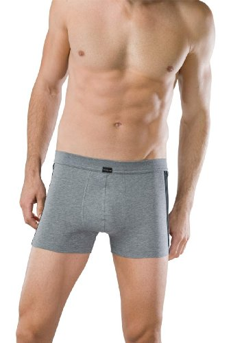 Schiesser Herren Short 2 Stück Bluebird Cotton Stretch Shorts - Grau/Grey: Größe: XXL (Gr.8)