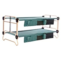 Big Sale Disc-O-Bed Cam-O-Bunk with Organizer, Tan/Green, X-Large