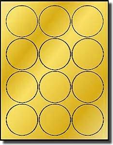 1 200 label outfitters 2 1 2 gold foil round laser only labels 100 sheets same. Black Bedroom Furniture Sets. Home Design Ideas