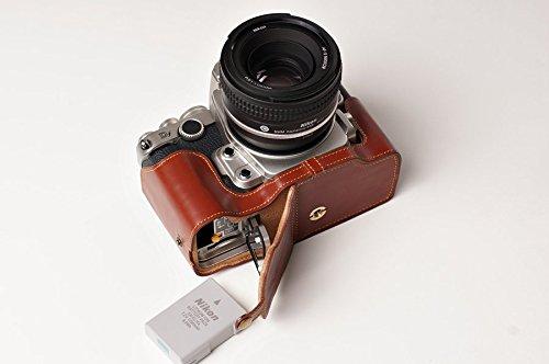tp-a-mano-in-vera-pelle-meta-custodia-per-fotocamera-nikon-df-marrone-apertura-inferiore-versione