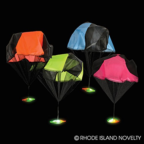 Flashing Light Up LED UFO Parachute Toys - 1