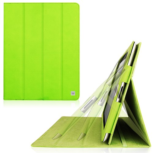 CaseCrown Omni Ridge Flip Case (Green) for iPad 4th Generation with Retina Display, iPad 3 & iPad 2 (Built-in magnet for sleep / wake feature)
