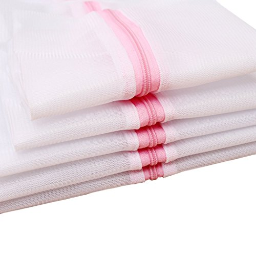 Mayin Set of 5 Mesh Laundry Bags - 1 XX-Large 1 Extra Large, 1 Large, 1 Medium, 1 Small - Premium Quality: Laundry Bag for Blouse, Hosiery, Stocking, Underwear, Bra and Lingerie, Travel Laundry Bag (Garment Washer Bag compare prices)