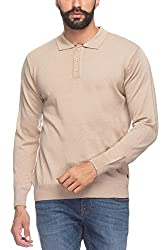 Raymond Men's Woolen Sweater (8907252514991_RMWX00369-H5_44_Khaki)