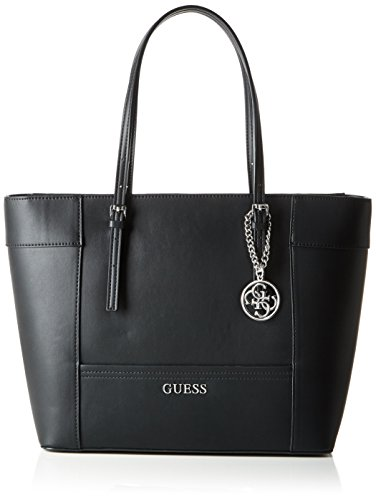 Guess Delaney Medium Classic Tote Borsa a Spalla, Donna, Nero