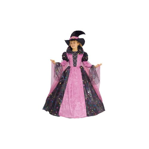 Deluxe Pink Witch Dress Child Halloween Costume Size 4T Toddler