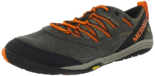 Merrell FLUX GLOVE Sports Shoes Mens Brown Braun (BOULDER/VIBRANT ORANGE) Size: 10.5 (44.5 EU)