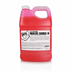 Chemical Guys CWS101 Maxi-Suds II Super Suds Car Wash Soap and Shampoo, Cherry Scent - 1 gal.