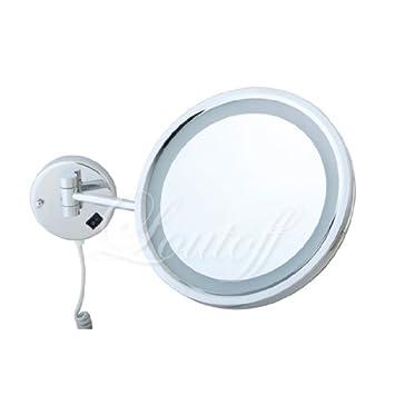 znl kosmetikspiegel schminkspiegel mit led beleuchtung 7 fach rohs rund ybl1700 us12. Black Bedroom Furniture Sets. Home Design Ideas
